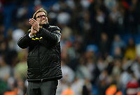 Fotball<br /> Tyskland<br /> 30.04.2013<br /> Foto: Witters/Digitalsport<br /> NORWAY ONLY<br /> <br /> Schlussjubel Trainer Jürgen Klopp (Dortmund)<br /> Fussball Champions League, Halbfinale Rueckspiel, Real Madrid - Borussia Dortmund 2:0