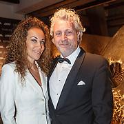 NLD/Amsterdam/20151210 - Vipnight LXRY Masters of Luxery 2015, Mark teurlings en partner Yvette Ydr