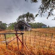 Old farmland and a barn in Bonner Springs, Kansas.