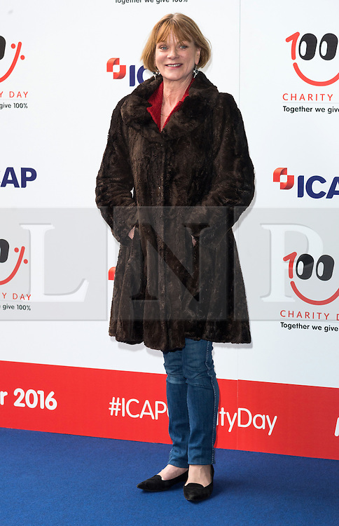 © Licensed to London News Pictures. 07/12/2016. SAMANTHA BOND arrives to attend ICAP Annual Charity Day where the companies revenue and commissions for that day are given to select charities. London, UK. Photo credit: Ray Tang/LNP