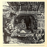 Grocers Shop, Jerusalem. from the book Picturesque Palestine, Sinai, and Egypt By  Colonel Wilson, Charles William, Sir, 1836-1905. Published in New York by D. Appleton and Company in 1881  with engravings in steel and wood from original Drawings by Harry Fenn and J. D. Woodward Volume 1