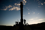 Marines based at Twentynine Palms prepare their M1-A1 Abrams tank at sunrise during live-fire exercises at Camp Pendleton.