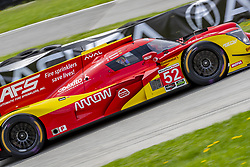 May 6, 2018 - Lexington, Ohio, United States of America - The AFS PR1 Mathiasen Motorsport Ligier LMP2 car races through the turns during the the Acura Sports Car Challenge at Mid Ohio Sports Car Course in Lexington, Ohio. (Credit Image: © Walter G Arce Sr Asp Inc/ASP via ZUMA Wire)