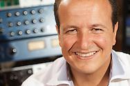 Photographs taken of Julio Reyes in his recording studio.