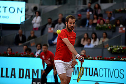May 7, 2019 - Madrid, Spain - Richard Gasquet (FRA) in his match against Roger Federer (SUI) during day four of the Mutua Madrid Open at La Caja Magica in Madrid on 7th May, 2019. (Credit Image: © Juan Carlos Lucas/NurPhoto via ZUMA Press)