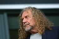Led Zeppelin singer Robert Plant during the EFL Sky Bet Championship match between Burton Albion and Wolverhampton Wanderers at the Pirelli Stadium, Burton upon Trent, England on 30 September 2017. Photo by John Potts.