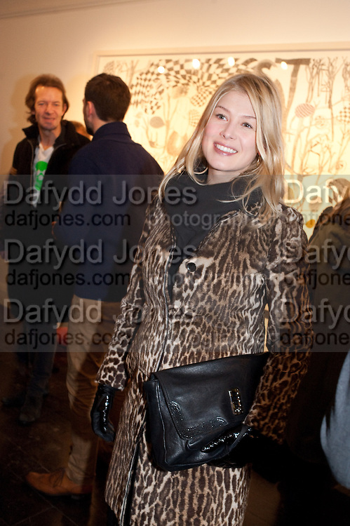 ROSAMUND PIKE, There is a Land Called Loss | Annie Morris | Pertwee Andersen and Gold, in association with Adam Waymouth Art , Private View, 15 bateman st. W1 2nd February 2012