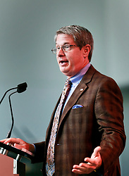 06 June 2014. The National WWII Museum, New Orleans, Lousiana. <br /> US Senator David Vitter speaks at the event commemorating WWII veterans.<br /> Photo; Charlie Varley/varleypix.com
