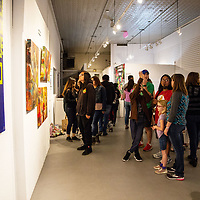 ART123 Gallery gets packed for their Challenge Gallup art show Saturday night.