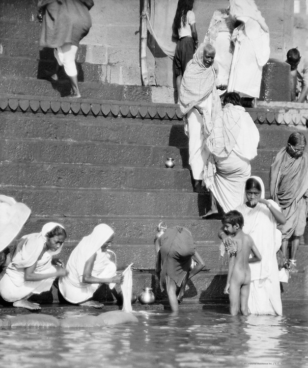 Bathing Ghats, Benares, India, 1929