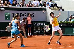 June 9, 2018 - Paris, France, France - Amelie Mauresmo (Fra) / Nathalie Dechy (Fra) - Finale Trophee des Legendes Femmes (Credit Image: © Panoramic via ZUMA Press)