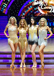 Stacey Dooley, Ashley Roberts, Lauren Steadman and Faye Tozer  attend the photocall for the 'Strictly Come Dancing' live tour at Arena Birmingham on 17 January 2019 in Birmingham, England. Picture date: Thursday 17 January, 2019. Photo credit: Katja Ogrin/ EMPICS Entertainment.