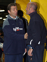 Photo: Paul Thomas.<br /> Port Vale v Norwich City. Carling Cup. 24/10/2006.<br /> <br /> Martin Foyle, Vale manager and Peter Grant, Norwich manager before the game.