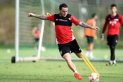 Lee Tomlin of Bristol City shoots  - Mandatory by-line: Joe Meredith/JMP - 19/07/2016 - FOOTBALL - Bristol City pre-season training camp, La Manga, Murcia, Spain