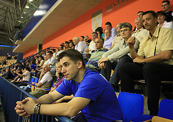 Robert Begus watching the  handball game between men national teams of Slovenia and Slovakia, first qualification game for the World Chamionship 2009, on June 7, 2008, in Arena Zlatorog, Celje, Slovenija. Result: 33 : 33. (Photo by Vid Ponikvar / Sportal Images)