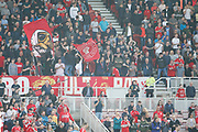 Middlesbrough fans during the EFL Sky Bet Championship match between Middlesbrough and Stoke City at the Riverside Stadium, Middlesbrough, England on 19 April 2019.