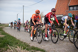 Marianne Vos (NED) of CCC-Liv Team rides the cobbles during the AG Driedaagse Brugge-De Panne - a 134.4 km road race, between Brugge and De Panne on April 21, 2018, in West Flanders, Belgium. (Photo by Balint Hamvas/Velofocus.com)