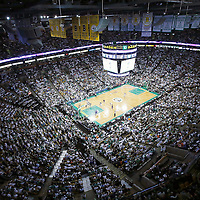 03 May 2013: General view of the TD Garden during the New York Knicks 88-80 victory over the Boston Celtics during Game Six of the Eastern Conference Quarterfinals of the 2013 NBA Playoffs at the TD Garden, Boston, Massachusetts, USA.