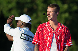 Justin Bieber headlines and performs on stage at Barclaycard presents British Summer Time at Hyde Park in London on 2 July 2017.<br />