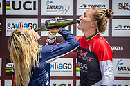 Overall World Cup positions: 2nd #6 (STANCIL Felicia) USA, 1st #110 (SMULDERS Laura) NED of the 2019 UCI BMX Supercross World Cup in Santiago del Estero, Argentina
