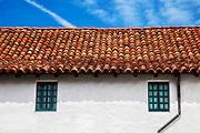 Tejas (roof tiles), Mission Santa Barbara, Santa Barbara, California, USA