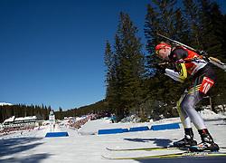KUZMINA Anastasiya of Slovakia competes during Women 12.5 km Mass Start competition of the e.on IBU Biathlon World Cup on Sunday, March 9, 2014 in Pokljuka, Slovenia. Photo by Vid Ponikvar / Sportida