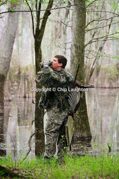 Turkey Hunting stock photo image