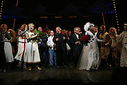 Tim Curry, Eric Idle, Terry Gilliam and Terry Jones and cast on stage. Opening of Spamalot at the Night Palace Theatre and afterwards at Freemasons Hall Gt. Queen St.  London. 17 October 2006. -DO NOT ARCHIVE-© Copyright Photograph by Dafydd Jones 66 Stockwell Park Rd. London SW9 0DA Tel 020 7733 0108 www.dafjones.com