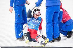 February 17, 2018 - Pyeongchang, SOUTH KOREA - 180217 Marit BjÂ¿rgen of Norway, gold, celebrating after the  WomenÃ•s Cross Country Skiing 4x5 km Relay during day eight of the 2018 Winter Olympics on February 17, 2018 in Pyeongchang..Photo: Petter Arvidson / BILDBYRN / kod PA / 87632 (Credit Image: © Petter Arvidson/Bildbyran via ZUMA Press)