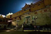 The Bhimakali temple in Sarahan at night on 18th October 2009, Himachal Pradesh, India. The Temple is Hundu and in Kinnaur, a remote and tribal region of the Indian Himalayas near the Tibetan border.