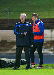 Cowdenbeath's player manager Jimmy Nicholl after Cowdenbeath's Greg Stewart's miss.<br /> Cowdenbeath 0 v 2 Falkirk, Scottish Championship game today at Central Park, the home ground of Cowdenbeath Football Club.<br /> © Michael Schofield.