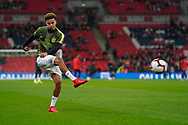 Dele Alli of England warms up during the International Friendly match between England and USA at Wembley Stadium, London, England on 15 November 2018.