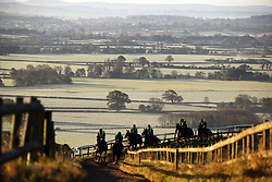 © Licensed to London News Pictures. 8/11/2017. Ditcheat, UK.  Riders out on a frosty morning .Photo credit: Jason Bryant/LNP