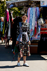 Street style, Sherry Shen arriving at Off White Spring-Summer 2019 menswear show held at Palais de Chaillot, in Paris, France, on June 20th, 2018. Photo by Marie-Paola Bertrand-Hillion/ABACAPRESS.COM