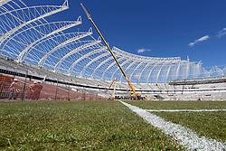 Foto das reformas do estádio Beira Rio feita em 07 de outubro de 2013. O Estádio Beira Rio, que receberá jogos da Copa do Mundo de Futebol 2014, tem 80% da sua reforma concluída e re-inauguração agendada para 04 de abril de 2014. FOTO: Jefferson Bernardes/ Agência Preview