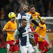 AdanaDemirspor's Ilhan Aydogdu (C) during their Turkey Cup matchday 3 soccer match Galatasaray between AdanaDemirspor at the Turk Telekom Arena at Aslantepe in Istanbul Turkey on Tuesday 10 January 2012. Photo by TURKPIX