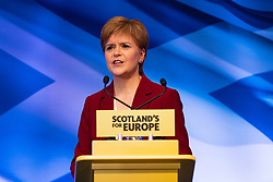 St Andrews,, Scotland, UK. 30th November 2019. First Minister of Scotland Nicola Sturgeon makes speech in St Andrews,Fife, on St Andrews Day in Scotland. Addressing party activists , she stated that Scotland's future should be in Scotland's hands - not Boris Johnson's. Iain Masterton/Alamy Live News.