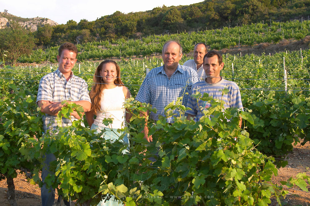 The team of the cooperative wine producer Cave Caramany, Ariege, Roussillon, France