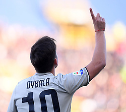 BOLOGNA, Feb. 25, 2019  Juventus's Paulo Dybala celebrates his goal during a Serie A soccer match between Bologna and FC Juventus in Bologna, Italy, Feb. 24, 2019. FC Juventus won 1-0. (Credit Image: © Augusto Casasoli/Xinhua via ZUMA Wire)