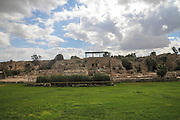 Ruins of the Roman buildings in the walled city of Caesarea, Israel