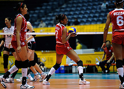07-11-2010 VOLLEYBAL: WORLD CHAMPIONSHIP: PERU - KOREA: TOKYO<br /> Korea beat Peru with 3-1 / Yulissa Zamudio Ore<br /> ©2010-WWW.FOTOHOOGENDOORN.NL