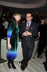 ALEXANDRA SHULMAN and JONATHAN NEWHOUSE at the Designer Fashion Fund Award hosted by The British Fashion Council and Vogue at Nobu Berkeley, 15 Berkeley Street, London on 29th January 2013.