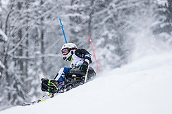Kano Akira of Japan during Slalom race at 2019 World Para Alpine Skiing Championship, on January 23, 2019 in Kranjska Gora, Slovenia. Photo by Matic Ritonja / Sportida