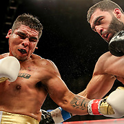 KISSIMMEE, FL - MARCH 05: Rafayel Simonyan (R) fights Abraham Tebes during the Boxeo Telemundo All Star Boxing event at Osceola Heritage Park on March 5, 2021 in Kissimmee, Florida. (Photo by Alex Menendez/Getty Images) *** Local Caption *** Rafayel Simonyan; Abraham Tebes