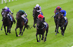 Brother Bear ridden by Colm O'Donoghue (front right) wins The Cold Move Irish EBF Marble Hill Stakes at the Curragh Racecourse, Dublin.