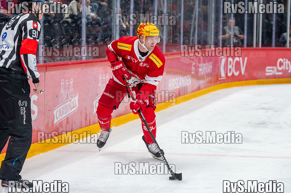 LAUSANNE, SWITZERLAND - SEPTEMBER 28: TopScorer Jiri Sekac #92 of Lausanne HC in action during the Swiss National League game between Lausanne HC and SC Bern at Vaudoise Arena on September 28, 2021 in Lausanne, Switzerland. (Photo by Monika Majer/RvS.Media)