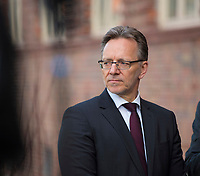 DEU, Deutschland, Germany, Berlin, 12.04.2018: Holger Münch, Präsident des Bundeskriminalamtes (BKA), beim Besuch des Gemeinsamen Terrorismusabwehrzentrums (GTAZ) auf dem Gelände des BKA.