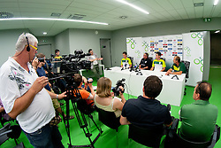 at press conference before practice session of Slovenian National football team 2 days before friendly game against Belgium, on August 8, 2011 in Stadium Stozice, Ljubljana, Slovenia. (Photo by Matic Klansek Velej / Sportida)