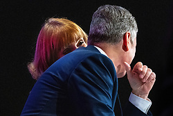 © Licensed to London News Pictures. 25/09/2021. Brighton, UK. Leader and Deputy Labour Leaders SIR KEIR STARMER (r) and ANGELA RAYNER at the conference . The first day of the 2021 Labour Party Conference , which is taking place at the Brighton Centre . Photo credit: Joel Goodman/LNP