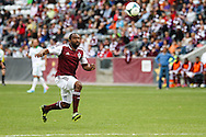 March 30th, 2013 Commerce City, CO - Colorado Rapids defender Marvell Wynne (22) chases after a ball during the first half of the MLS match between the Portland Timbers and the Colorado Rapids at Dick's Sporting Goods Park in Commerce City, CO